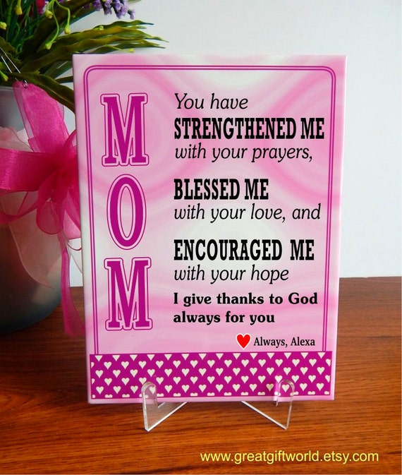 Christian Mom Keepsake Plaque Gift Religious Mother Thank You