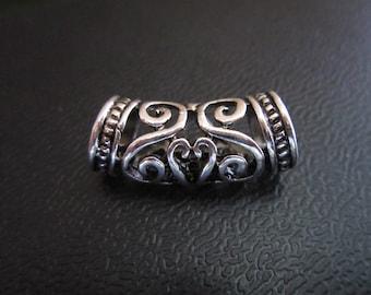 2PCS gold / Silver Dreadlock beads dread dread Making Jewelry Accessories 7mm hole