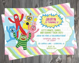 Yo Gabba Gabba Girl/Boy Invitation