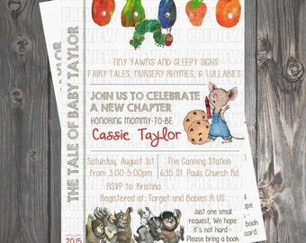 Storybook Baby Shower Invitation/Book Request Card