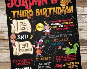 Jake and the Neverland Pirates Birthday Poster