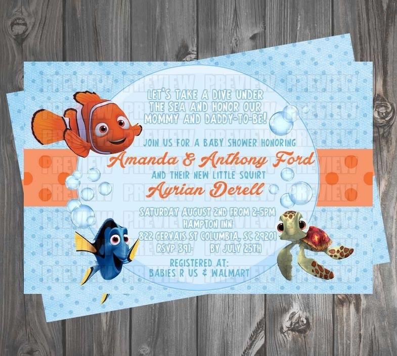 finding nemo baby shower invitation by emijaidesigns on etsy