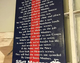 Marine Corps Hymn Personalized
