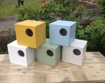 Bird box, Nesting boxes,Coloured Bird boxes