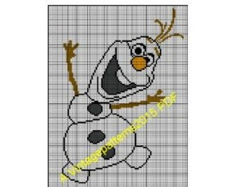 Olaf Knitting Pattern Chart : Unique intarsia snowman related items Etsy