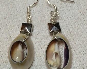 Intricate shell earrings