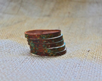 5 Strand Leather Bracelet