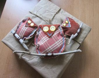 Handmade family owls