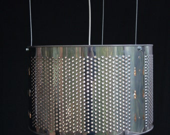 Light Wash - Pendant light from a repurposed washer drum