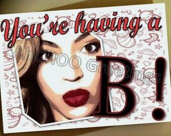 Queen Bey Baby Shower Card