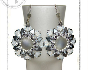 Kiola beaded earrings PDF pattern