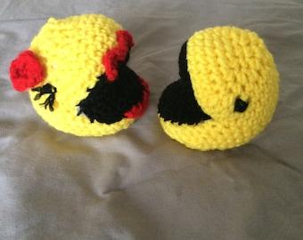 Handmade Mr. & Mrs. Pacman Set