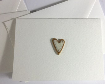 5 Heart Greeting Cards Set