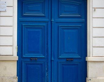 Vincent van Gogh's Door, Paris Fine Art Print, Blue Door, Paris Door, Architecture Photography, Paris Photography, Montmartre Paris, Door
