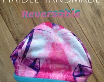 Reversable Handmade newborn 0-3 month hat.