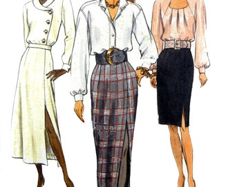 1992 Very Easy Very Vogue 8427 Misses' Tapered, Slightly Tapered or A-line Skirt Sewing Pattern Size 8-10-12