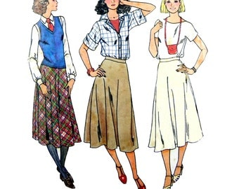 1970's Butterick 6116 Marie Osmond Sews Super Quick Flared Bias Skirt Sewing Pattern Size Large*