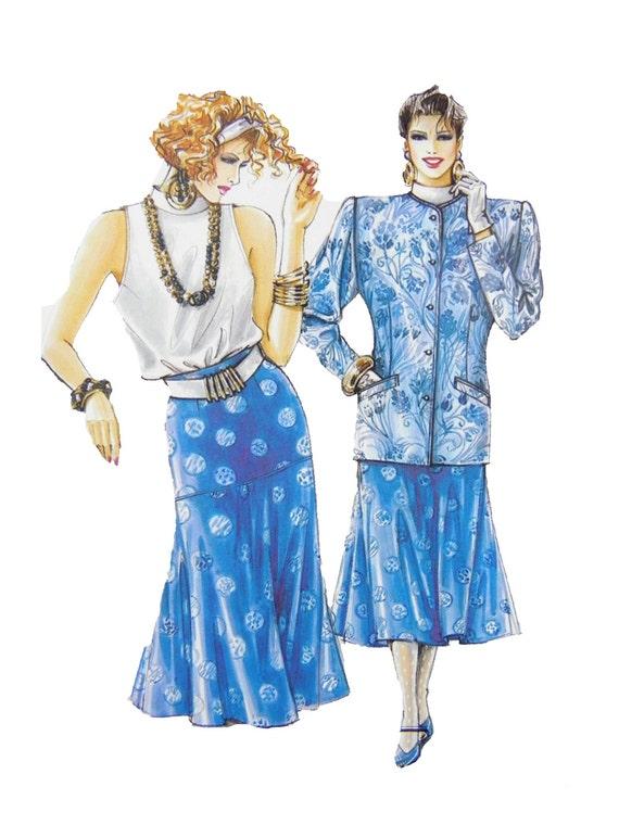ann es 1980 neue mode v 20690 avantgarde jeune femme veste. Black Bedroom Furniture Sets. Home Design Ideas