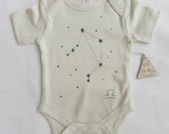 Organic Libra Constellation Baby Onesie