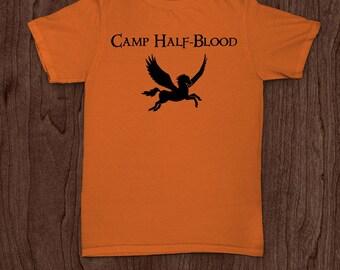 Camp half blood funny t-shirt tee shirt tshirt percy jackson wings book movie Christmas kids greek mythology demi god nerd geek fun funny
