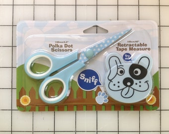 Cute Dog and Pig Scissor And Tape Measure Set