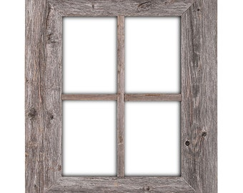 rustic wood window frame window frame window pane frame barnwood window frame - Windowpane Picture Frame