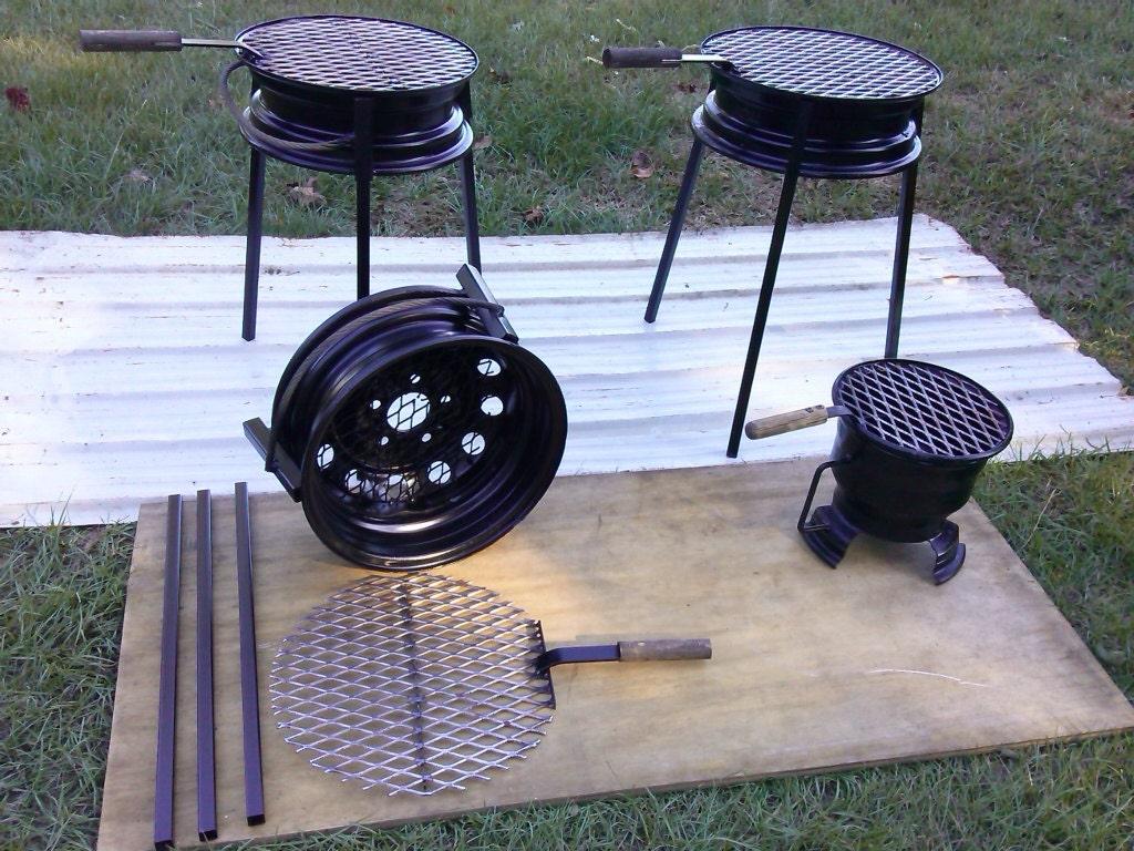 Carcoaler Tire Rim Grill