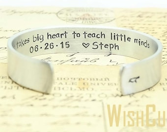 Teacher Gift- Thank you Gift, Gift for Teacher, Gift for Nanny, Gift for Coach, Gift Ideas, It takes big heart to teach little minds.