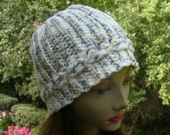 Country Cable Hand Crochet Hat Adult Beanie