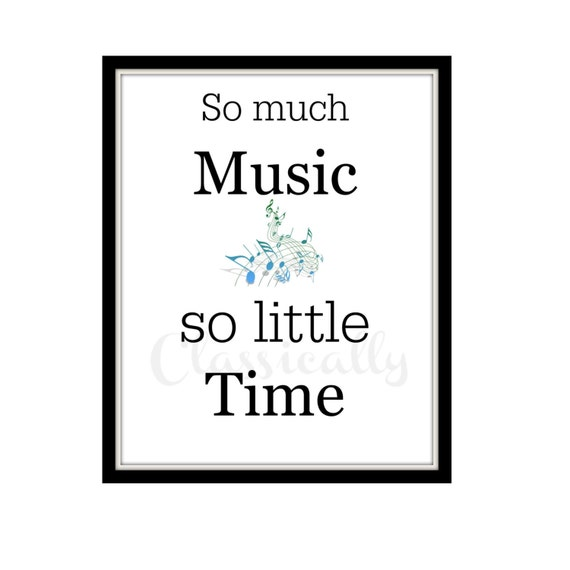 Music Print, Digital Word Print, Music Wall Art, Music Time, Typography Word Art, Inspirational Quote