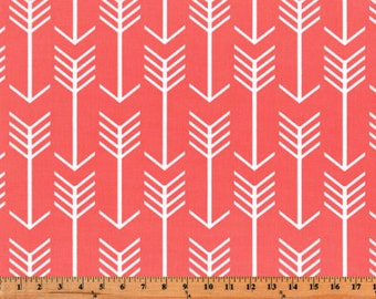 Premier Prints Arrow in Coral Home Decor fabric, 7 oz Fabric, 1 yard
