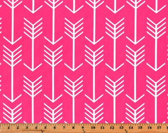 Tribal Fabric, Premier Prints, Fabric by the Yard, Arrow Fabric, Candy Pink, Hot Pink, Home Decor Fabric, Upholstery, 7 oz Cotton, FAST SHIP