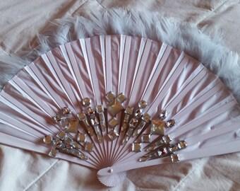 lilac handheld fan