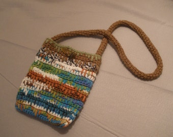 Eyelash-Stitch Crocheted Purse/Tablet Pouch