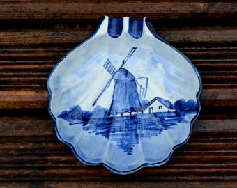 Vintage Blue Delft ashtray