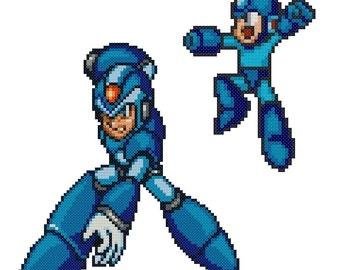 Mega Man Cross Stitch Pattern