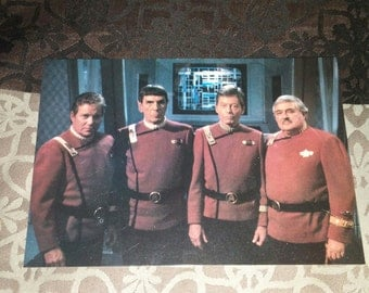Star Trek VI The Undiscovered Country Cast Postcard