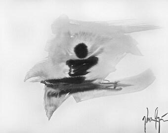 """Original Contemporary Abstract Zen Painting,  9.5"""" x 13.5"""" -""""Stillness"""""""