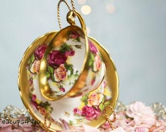 Royal Chelsea Golden Rose Tea Cup & Saucer