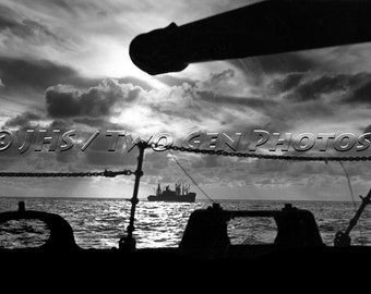Historic WWII Photo, Marine Transport, WWII, History, Solomon Islands, B & W, Combat Photography, Marines, Pacific, WWII, Vintage