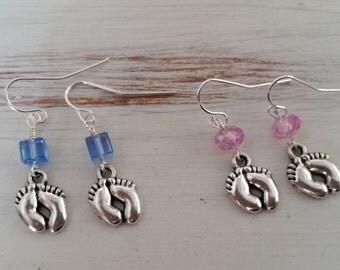 Sale - Baby Feet Dangle Earrings