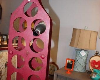 Chalk Painted Red Wine Rack
