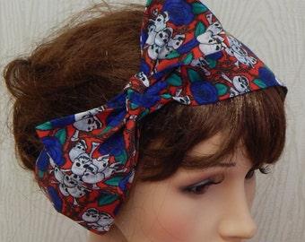 Gothic Skull and Roses Headband, Goth Hair Band, Stylish Head Wrap, Self Tie Crossbones Headband