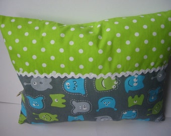 Snuggle pillows with Monster, sewn, new!
