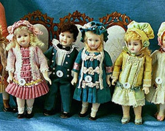 Doll Molds by Doreen Sinnett. Pouty, S&H Character, Long Face Jumeau, Laughing Jumeau, Bru, S and H 1078 heads.