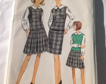 Vintage sewing pattern Simplicity Jumper Pattern Size 16