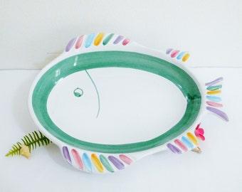 Handpainted Fish Serving Platter