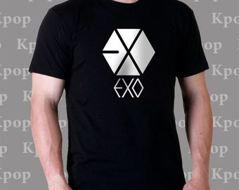 kpop EXO 100 % cotton black t-shirt shirt