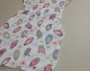 Woodland Mini Owl Burp Cloth
