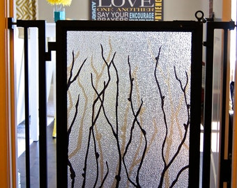 Designer Pet Gate - Willow Branches Interchangeable Art Screen